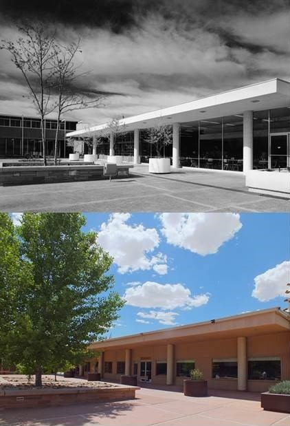Painted Desert Community Complex today and 1960s