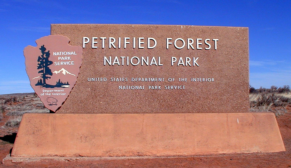 Petrified Forest North Entrance Sign