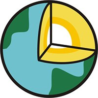 EarthCache logo with cross section of globe