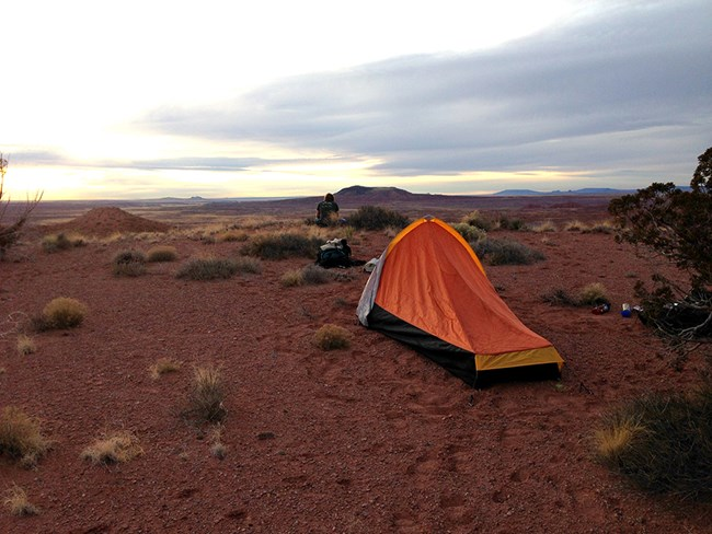 Tent in wilderness area