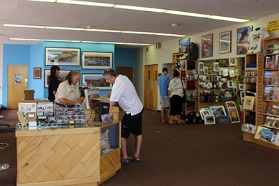 Staff helps visitors at the Painted Desert Visitor Center