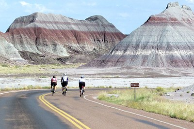 Bicycling through the Tepees