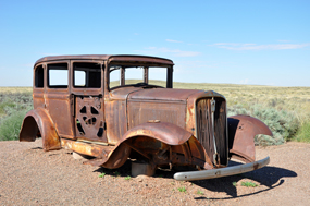 1932 Studebaker at Route 66 in Petrified Forest National Park