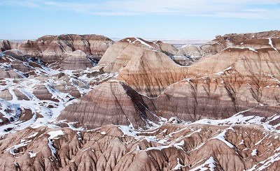 Blue Mesa with a dusting of snow