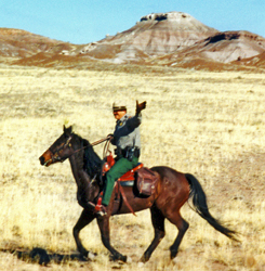 Riding a Horse in Petrified Forest National Park