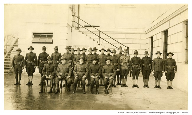 staff of Alcatraz post hospital December 1918