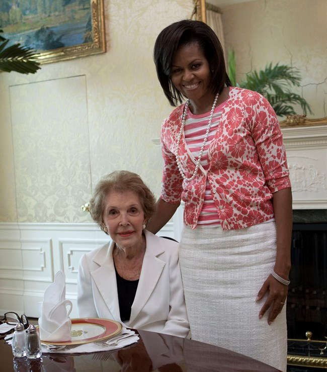 Nancy Reagan and Michelle Obama