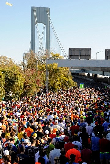 New York City Marathon, has been run since 1970 and begins at Fort Wadsworth. Last year some 50,000 people participated.  Photo by Francesca Simondi.