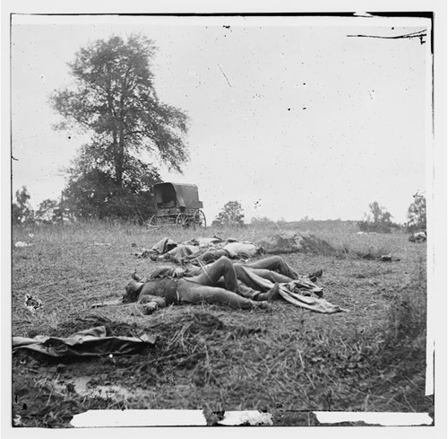 Dead on the Gettysburg Battlefield