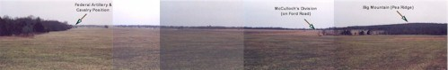 Panorama view of the Foster/Sturdy Farm portion of the Leetown Battlefield