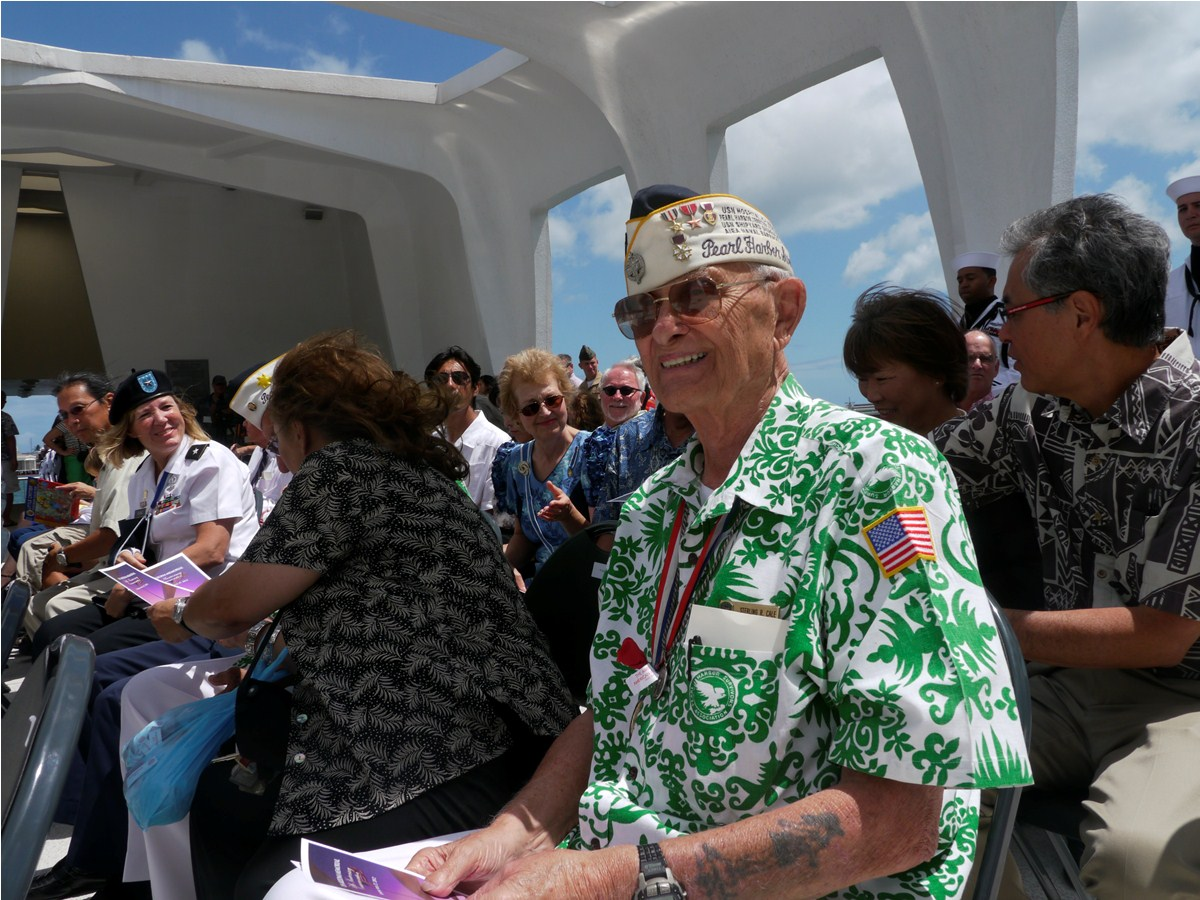 Sterling Cale on USS Arizona Memorial