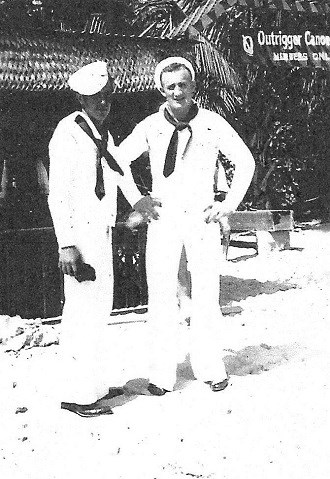 Joe George, right, and another sailor