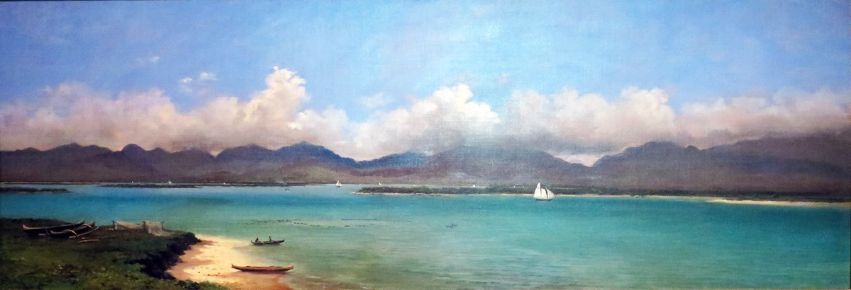 Painting of Pearl Harbor before US military presence.