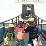 Jr. Rangers visiting the USS Arizona Memorial.
