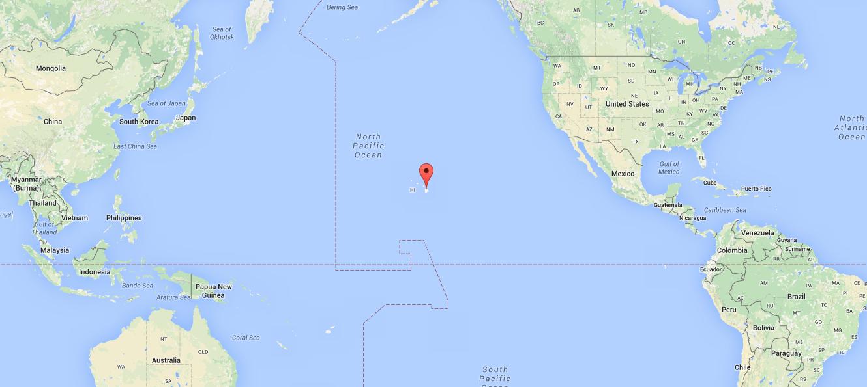 A Google Map Image Of Hawaii.