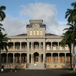 A view of the Iolani Palace