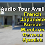The audio tour is available in many languages.