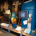 An image of one of the exhibits in the museum, showing life in America in the 1930s.
