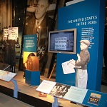 "Part of the ""Life in America"" exhibit in the visitor center museum."