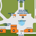 A map of the Pearl Harbor Visitor Center.