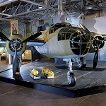 North American B-25B Mitchell bomber in Hangar 37.