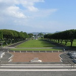A wide view of the National Memorial Cemetery of the Pacific