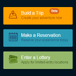 The reservation button on the recreation.gov website.