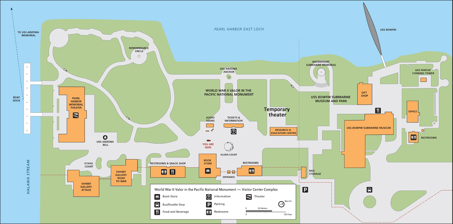 Map of the Pearl Harbor Visitor Center - World War II ...