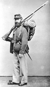 Civil War infantryman with gun