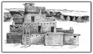 Drawing of Pueblo