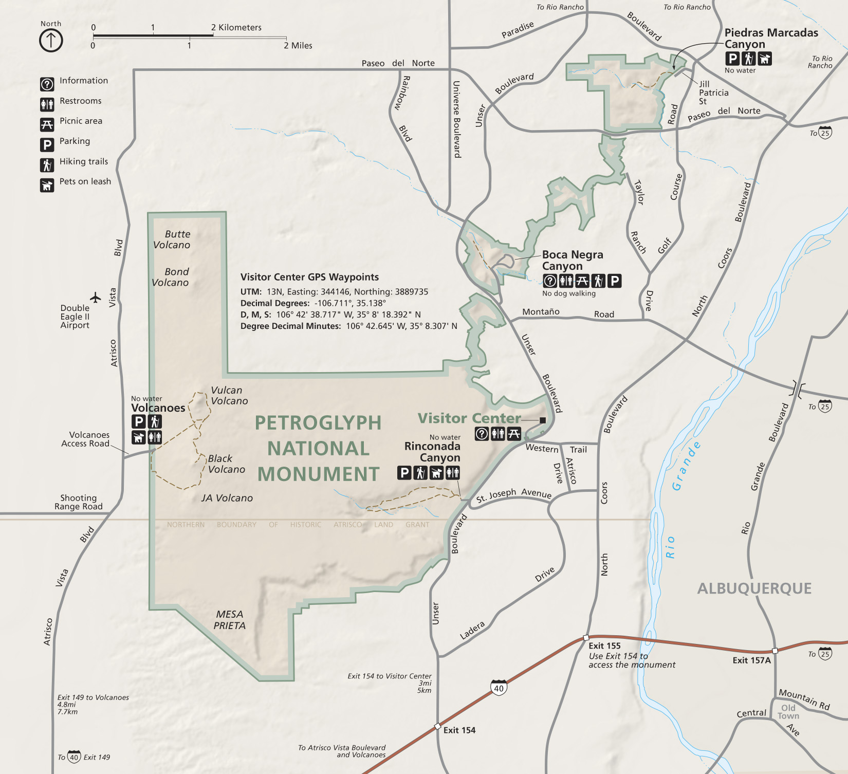 Official map of Petroglyph National Monument