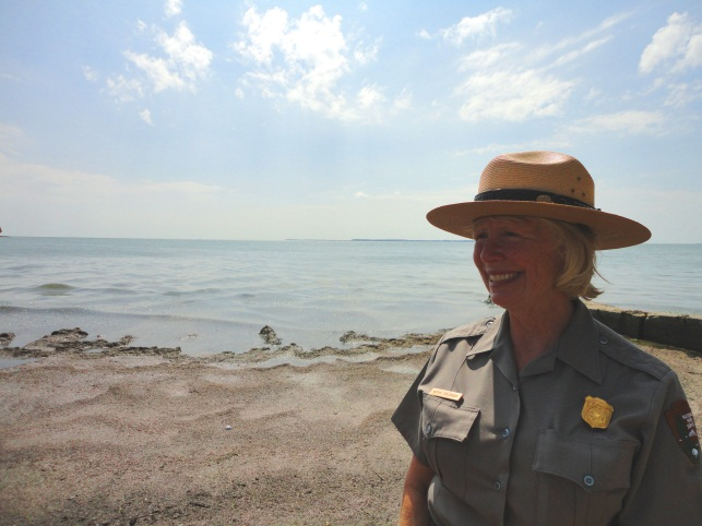 Park Ranger on a beach