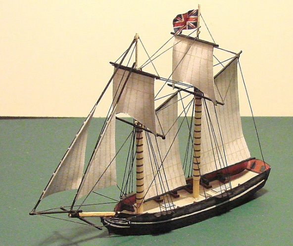 A Miniature of the HMS Lady Prevost