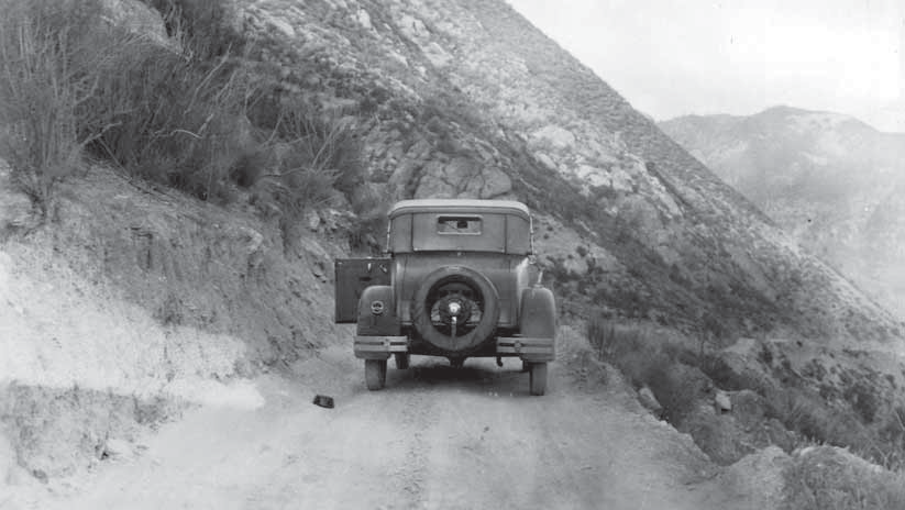 Early motorist at Pinnacles