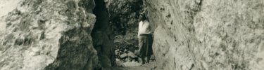 A visitor at Pinnacles National Monument in 1931
