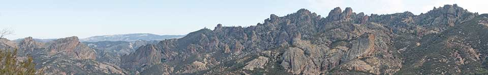 Rock formations as seen from Jawbone Trail.