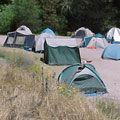 A typical group campsite at the Pinnacles Campground