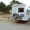 A typical RV site at the Pinnacles Campground