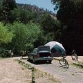 A typical campsite at the Pinnacles Campground