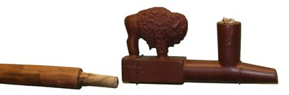 Bison Effigy Pipe