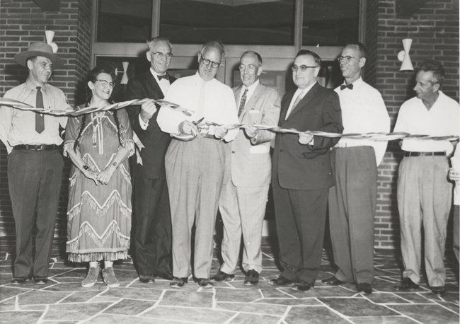 Dedication of Monument Visitor Center – July 1958