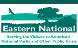 This green on white logo identifies Eastern National, the cooperating association of the National Park Service.