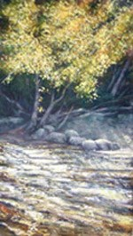 Phil Kryzminski painted this landscape of the Mosquito River during his stay as Artist in Residence.