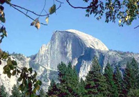 Half Dome rock outcrop at Yosemite National Park.
