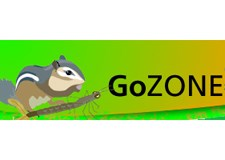 This logo for the National Park Service Park Fun website features a squirrel and the phrase