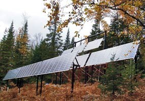 This photovoltaic array collects solar energy to power the Au Sable Light Station.