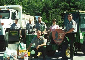 Pictured Rocks National Lakeshore employees honored for their environmental work.