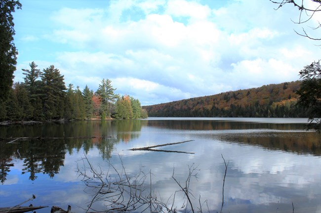 Trappers Lake in the fall