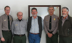 Chris Case, John Ochman, Gregg Bruff, Larry Hach, and Gary Vieth have been recognized for 30 years of service with the federal government. Congratulations!