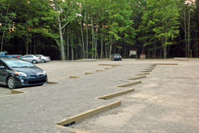 Chapel-Mosquito parking lot after improvements completed.